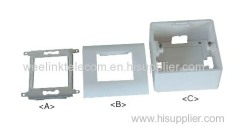 French 80*80mm RJ45 wall mount Face plate