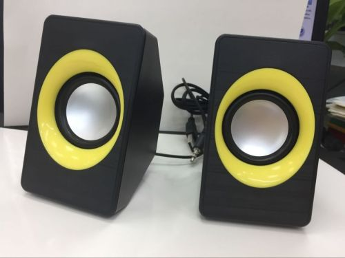 Small Computer PC Speakers With USB 2.0 and 3.5mm Interface