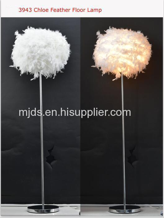 White Feather Floor Lamp White Feather Shade D400mm *H1550mm