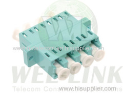 LC duplex high low type fiber optic adapter