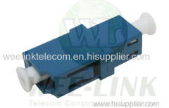 LC APC Duplex Fiber Optic Adapter with Integrated Shutter