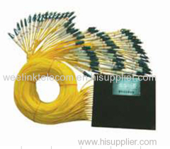 1x8 PLC Passive Fiber Optic Splitter ABS type FTTH passive splitter