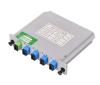 4way FTTH LGX box insertion card type fiber optic PLC splitter with SC/UPC