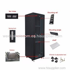 19'' 42U Floor Standing Server Network Switch Cabinet