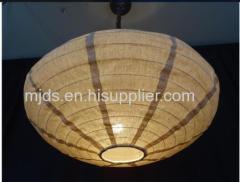 Fabric Lantern Elliptical shade natture