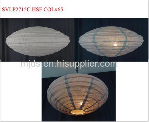 Elliptical shade Fabric Lantern D440*H220MM
