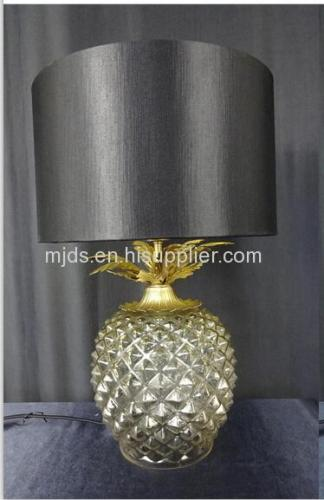 Clear Glass Pineapple Design Table Lamp