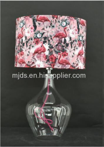 Digital Print Shade Glass Table Lamp
