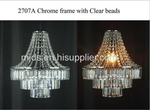 Chrome Frame With Clear Acrylic Beads