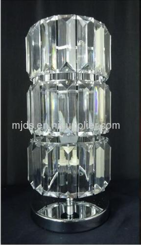 Chrome Metal Base With Clear Acrylic Table Lamp