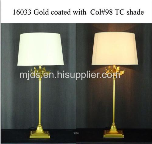Glod Coated With TC Fabric Shade Desk Lamp
