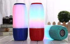Portable Bluetooth Lightshow Music Speaker Colorful Voice Assistant Stereo Speaker Waterproof With Speakerphone