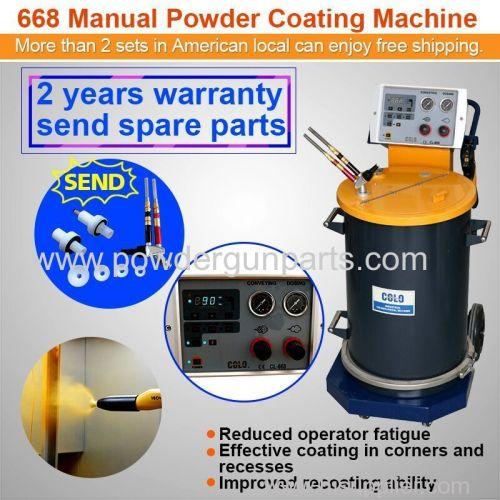 electrostatic powder coat spray machine