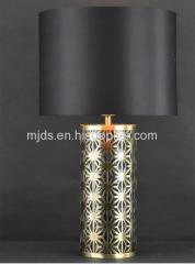Table Lamp With Black Emulation Silk Shade