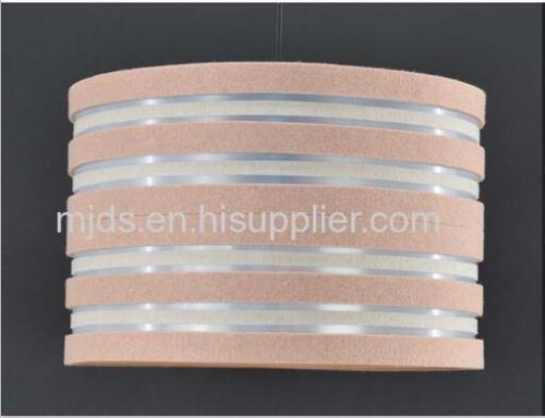 D300 Light Brown Felt Cylinder Shade
