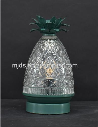 Pineapple Cut Glass Table Lamp