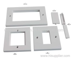UK 86 type white brush Module face plate wall plate