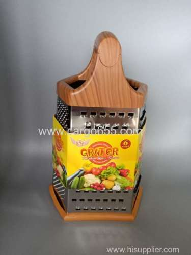 Multi kitchen tools stainless steel vegetable and fruit grater 6 in 1 Stainless steel Cheese Carrot vegetables Grater