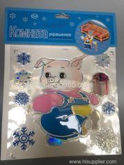 декоративные и съемные diy pvc cut виниловые детские 3d наклейки для стен / лазерная / голографическая бумага / пластиковые наклейки