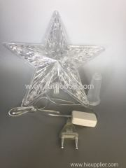 Lighted tree top star