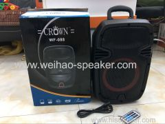 8 Inch Portable Speaker with bluetooth 220V AC Power