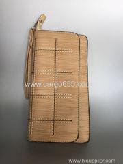 новые случайные личи модели кожаные женские сумочки и кошельки в длинном разделе кошельки сцепления женщин