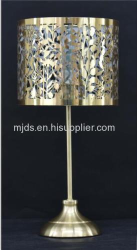 Laser Cut Table Lamp For Kids Copper/Satin Brass/Chrome