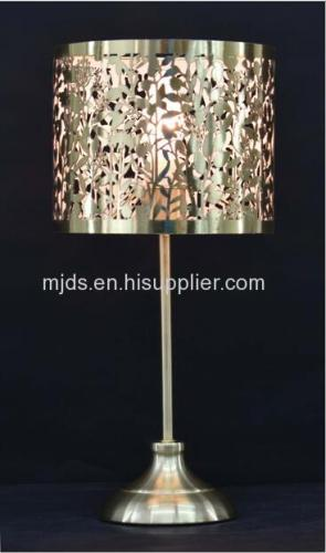 Laser Cut Table Lamp For Kids Copper/Satin Brass/Chrome