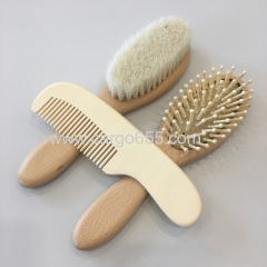 Bamboo Baby Hair Brush and Comb Set