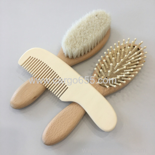 PersonalizedNatural Bamboo Baby Hair Brush and Comb Set Suitable for Newborns Infant Toddlers Soft Gentle Bristles