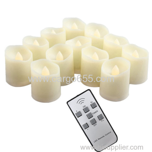 Battery operated Electric Flameless LED Tealight Candle with Timer and Remote Flickering Votive LED Tea Light Candles