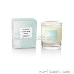 scented glass candle with gift box packing