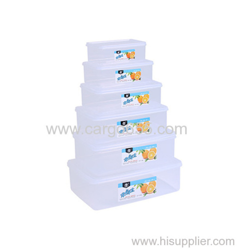 High Quality Best Kitchen Stackable Plastic Containers Food Rectangle plastic food container storage for microwave oven
