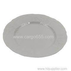 высококачественная белая одноразовая пластиковая боковая панель декоративная круглая пластиковая пластина
