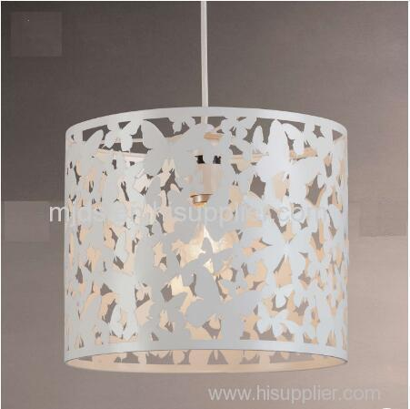 Etch Butterflies White Metal Shade For Kids