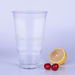 PET pint tumbler glass clear transparent disposable plastic cup