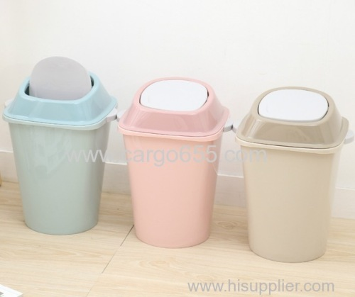 Home indoor outdoor recycle plastic waste bin with lid PP plastic cabinet dustbin/plastic waste trash bin/plastic trash