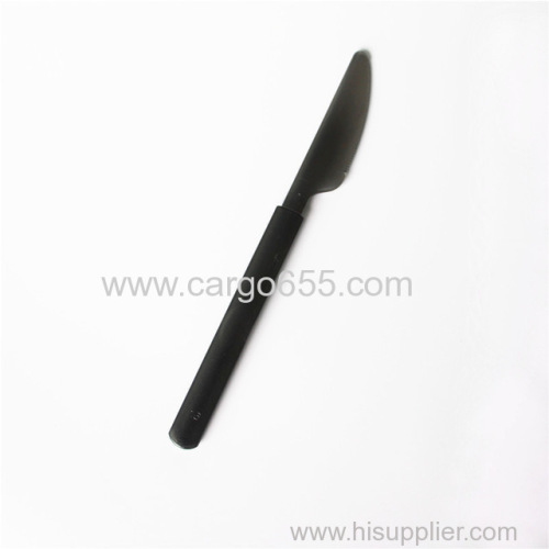 Heavy Duty Restaurant Cutlery Plastic Spoon Fork And Knife New style of heavy weight long handle disposable plastic PS
