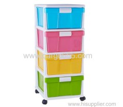 Organizer plastic storage drawers colorful storge cabinet