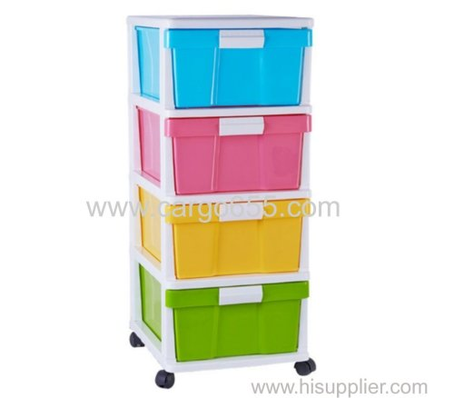 Hot sale organizer storage drawer cabinet plastic for home Organizer plastic storage drawers colorful storge cabinet