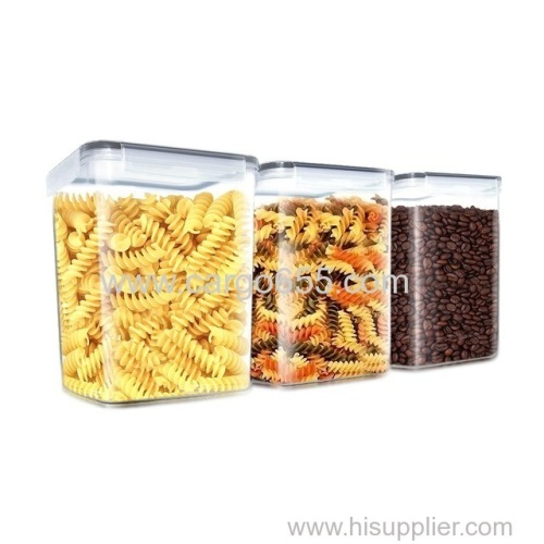 Plastic Cereal Container 4 Side Locking Lid Watertight Bpa Free Plastic Great Food Storage Set Of 6 packs