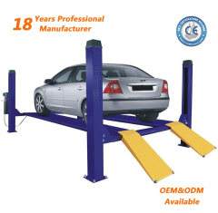 Chinese Supplier CE Certificate 4 Ton Hydraulic Four Post Lift