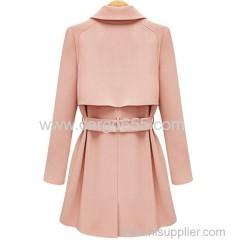 оптовая пальто женщина длинный рукав пальто с поясом женщин стильный толстый пальто моды длинный рукав