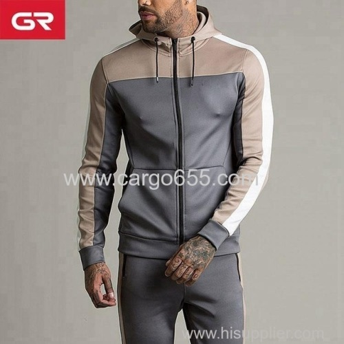 Latest Design Slim Fit Custom Gym Tracksuit Mens Sportswear