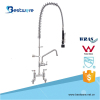 Commercial Kitchen Double Deck Mounted Stainless Steel Pre Rinse Faucet