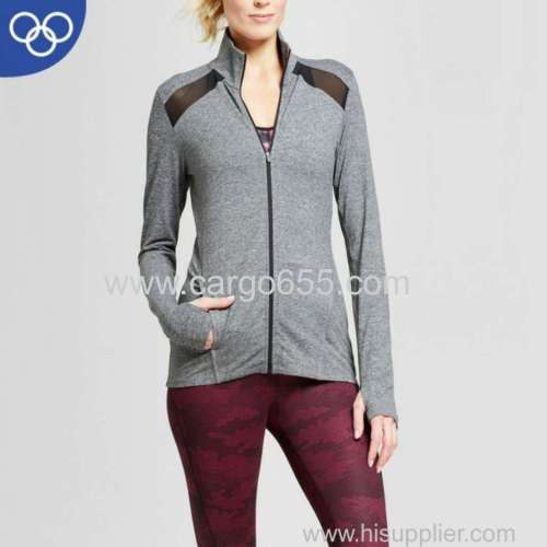 OEM Factory 2018 OEM active sportswear sports jacket women spandex sportswear
