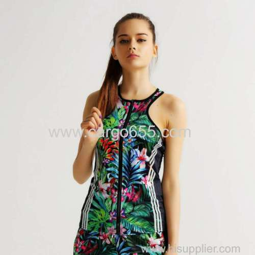 burst flowers digital printing outdoor sports suits leisure speed dry breathable two sets of women Sportswear