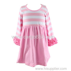оптовые 2018 новых прибытия детей девушка бутик платье детей девушка модные хлопок платье горячие продажи детей одежды