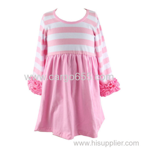 wholesale 2018 new arrivals children girl boutique dress children girl fancy cotton dress hot sale kids garments
