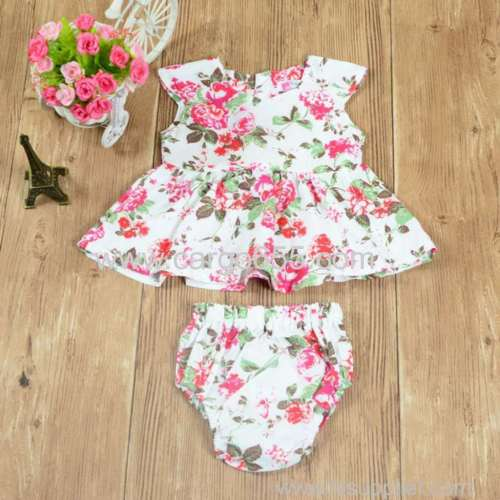 Newest girls boutique clothing baby girl 2 pcs suit set baby clothing baby garments